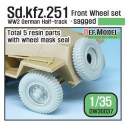 画像1: DEF.MODEL[DW30037]1/35 WWII独 Sd.Kfz.251 自重変形フロントホイールセット(汎用)