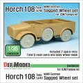 DEF.MODEL[DW30039]1/35 WWII独 ホルヒ108 type 1a/40 自重変形フロントホイールセット(タミヤ/ICM用)