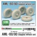 DEF.MODEL[DW35098]1/35 現用仏 AML-60/90 自重変形タイヤセット(タコム用)