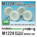 DEF.MODEL[DW35106]1/35 米 M1224 マックスプロ 自重変形タイヤ(ブロンコ用)