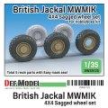 DEF.MODEL[DW35125]1/35 現用 イギリス陸軍ジャッカル1高機動装甲車用自重タイヤセット(ホビーボス用)