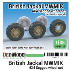 画像1: DEF.MODEL[DW35125]1/35 現用 イギリス陸軍ジャッカル1高機動装甲車用自重タイヤセット(ホビーボス用)