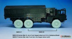 画像4: DEF.MODEL[DW35127]1/35 現用 ドイツ連邦軍7/10t軍用トラック用自重変形タイヤ2 追加分2個セット(ホビーボス/レベル用)