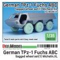 DEF.MODEL[DW35128]1/35 現用 ドイツ連邦軍TPz-1フックス装甲車用自重変形タイヤセット1フランス製仕様(レベル用)