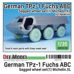 画像1: DEF.MODEL[DW35128]1/35 現用 ドイツ連邦軍TPz-1フックス装甲車用自重変形タイヤセット1フランス製仕様(レベル用)
