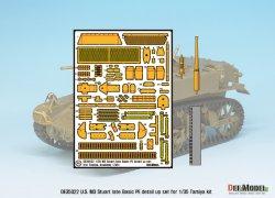 画像2: DEF.MODEL[DE35022]1/35 WWII米 M3軽戦車後期型 エッチング基本セット(タミヤ用)