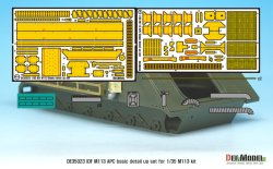 画像2: DEF.MODEL[DE35023]1/35 IDF M113 APC基本型用PEディテールアップセット(各社1/35スケールM113対応)