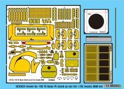 画像2: DEF.MODEL[DE35024]1/35 WWII ロシア/ソ連 SU-100 TDベーシックエッチングパーツディテールアップセット(ズベズタ用)