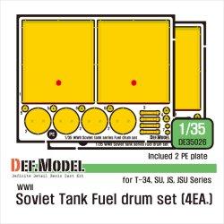 画像1: DEF.MODEL[DE35026]1/35 WWII ロシア/ソ連 ロシア戦車用外部燃料タンクセット(各社1/35用)