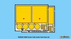 画像2: DEF.MODEL[DE35026]1/35 WWII ロシア/ソ連 ロシア戦車用外部燃料タンクセット(各社1/35用)