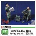 DEF.MODEL[DF35010]1/35 米海兵隊 火力支援連絡班セット 朝鮮戦争1950-51 冬季防寒服