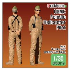 画像1: DEF.MODEL[DF35019]1/35 現用 米海兵隊 USMC ヘリコプターパイロット 女性モデル(立像)