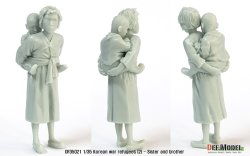 画像4: DEF.MODEL[DF35021]1/35 韓国 朝鮮戦争 戦争難民(2) 姉と弟