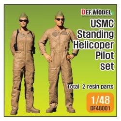 画像1: DEF.MODEL[DF48001]1/48 現用 米海兵隊 USMC AH-1Zバイパーパイロットセット(立像)