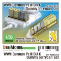 DEF.MODEL[DM35108]1/35 WWII ドイツ陸軍III号戦車アフリカ軍団ジェリ缶セット(各社1/35III号戦車用)