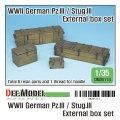DEF.MODEL[DM35113]1/35 WWII ドイツ陸軍III豪戦車/III号突撃砲用木製外箱セット(各社キット対応)