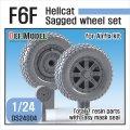 DEF.MODEL[DS24004]1/24 WWII 米 アメリカ海軍戦闘機F6Fヘルキャット用自重変形タイヤセットパート1 (エアフィックス用)