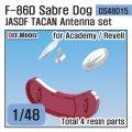 DEF.MODEL[DS48015]1/48 現用 航空自衛隊F-86Dセイバードッグ TACAN/インテイクカバーセット(アカデミー/レベル用)