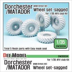 画像1: DEF.MODEL[DW30034]1/35 WWIIブリティッシュエース ドーチェスターマタドール 自重変形タイヤ(AFVクラブ用)