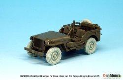画像2: DEF.MODEL[DW30036]1/35 WWII米 ウィリスジープ タイヤセット /wスノーチェーン(タミヤ/DML/ブロンコ用)