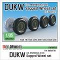 DEF.MODEL[DW30053]1/35 WWII 米陸軍 DUKW(水陸両用トラック)用自重変形タイヤセット(イタレリ用)