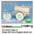 DEF.MODEL[DW30055]1/35 WWII米陸軍カーゴトレーラー&ダッジWC用自重変形タイヤセットホイール付(AFVクラブ/イタレリ)