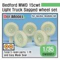 DEF.MODEL[DW30057]1/35 WWII 英軍ベッドフォードMWD15cwtトラック用自重変形タイヤセット(ゲッコーモデル用)