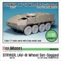 DEF.MODEL[DW35010A]1/35 ストライカー/LAV-III ミシュラン XML 自重変形タイヤ(AFVクラブ/トラペ用)