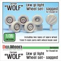 DEF.MODEL[DW35088]1/35 現用独 LKW軽車両「ウルフ」自重変形タイヤ(レベル用)