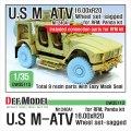 DEF.MODEL[DW35113]1/35 現用 米 アメリカ陸軍M1240A1 M-ATV自重変形タイヤセット (RFM用)