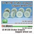 DEF.MODEL[DW35114]1/35 現用 アメリカ陸軍M1296ストライカードラグーン自重変形タイヤセット (AFVクラブ用)