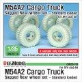 DEF.MODEL[DW35116]1/35 現用 米 アメリカ陸軍 M54A2カーゴトラック自重変形リアタイヤセット 標準荷重仕様 (AFVクラブ用)