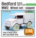 DEF.MODEL[DW48007]1/48 英 ベッドフォード MWD 軽車両 自重変形タイヤ(エアフィックス用)