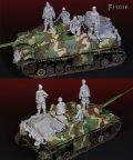 Darius Miniatures[DMF35036]1/35 WWII 独 IV号駆逐戦車ラング用装備品&武装SS戦車兵セット