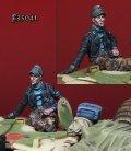 Darius Miniatures[DMF35041]1/35 WWII 独 武装SS 片手を付く戦車兵#1