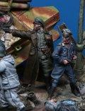Darius Miniatures[DMF35051]1/35 WWII ドイツ武装親衛隊士官セット3 応戦する猟兵(2体入)