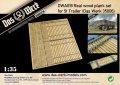 ダス・ヴェルク[USCDWA019]1/35 ドイツ軍 ユーティリティー トレーラー 5t用床板/パネル木製板セット