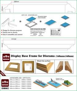 画像1: ダイオパーク[DB002] ディスプレイベース枠 展示面長16cm×2本セット(底辺長201mm、高さ25mm)