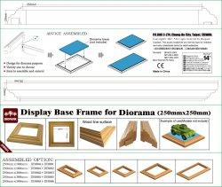 画像1: ダイオパーク[DB004] ディスプレイベース枠 展示面長25cm×2本セット(底辺長291mm、高さ25mm)