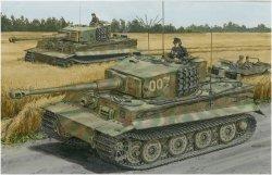 """画像1: ドラゴンモデル[DR6800]1/35 WW.II ドイツ軍 ティーガーI 後期生産型 """"ヴィットマン ラスト タイガー"""""""