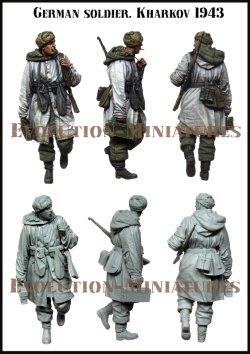 画像2: エボリューション[EM-35220]1/35 WWIIドイツ歩兵冬季行軍 銜え煙草の独兵 ハリコフ1943
