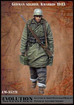 画像1: エボリューション[EM-35221]1/35 WWIIドイツ歩兵冬季行軍 両手に弾薬箱を持つ兵士 ハリコフ1943