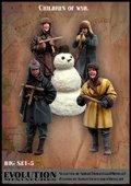 エボリューション[BigSet-5 ]1/35 WWII真冬に戦争ごっこに興じる子供たち