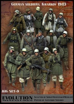 画像1: エボリューション[BigSet-9]1/35 WWIIドイツ歩兵冬季行軍ビックセット ハリコフ1943(15体セット)