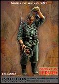 エボリューション[EM-35002]1/35 WWIIドイツ陸軍歩兵 頭に水を掛ける兵士
