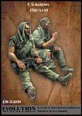 エボリューション[EM-35031]1/35 小休止するアメリカ海兵隊隊員 ベトナム