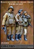 エボリューション[EM-35034]1/35 現用ロシア連邦軍 負傷した戦車兵を護送する兵士 チェチェン1994〜96