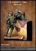 エボリューション[EM-35035]1/35 塀を越えて進撃する米海兵隊隊員 ベトナム(1)
