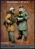 エボリューション[EM-35043]1/35 WWIIドイツ武装SS擲弾兵 打合せするLAH兵士と士官