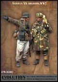 エボリューション[EM-35112]1/35 WWIIドイツ武装SS 打合せをする冬服の擲弾兵